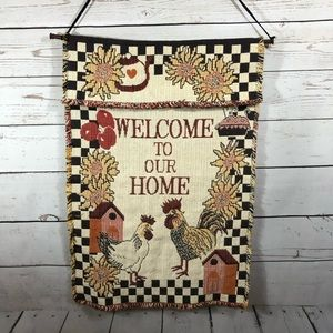 Welcome To Our Home Stitched Wall Hanging